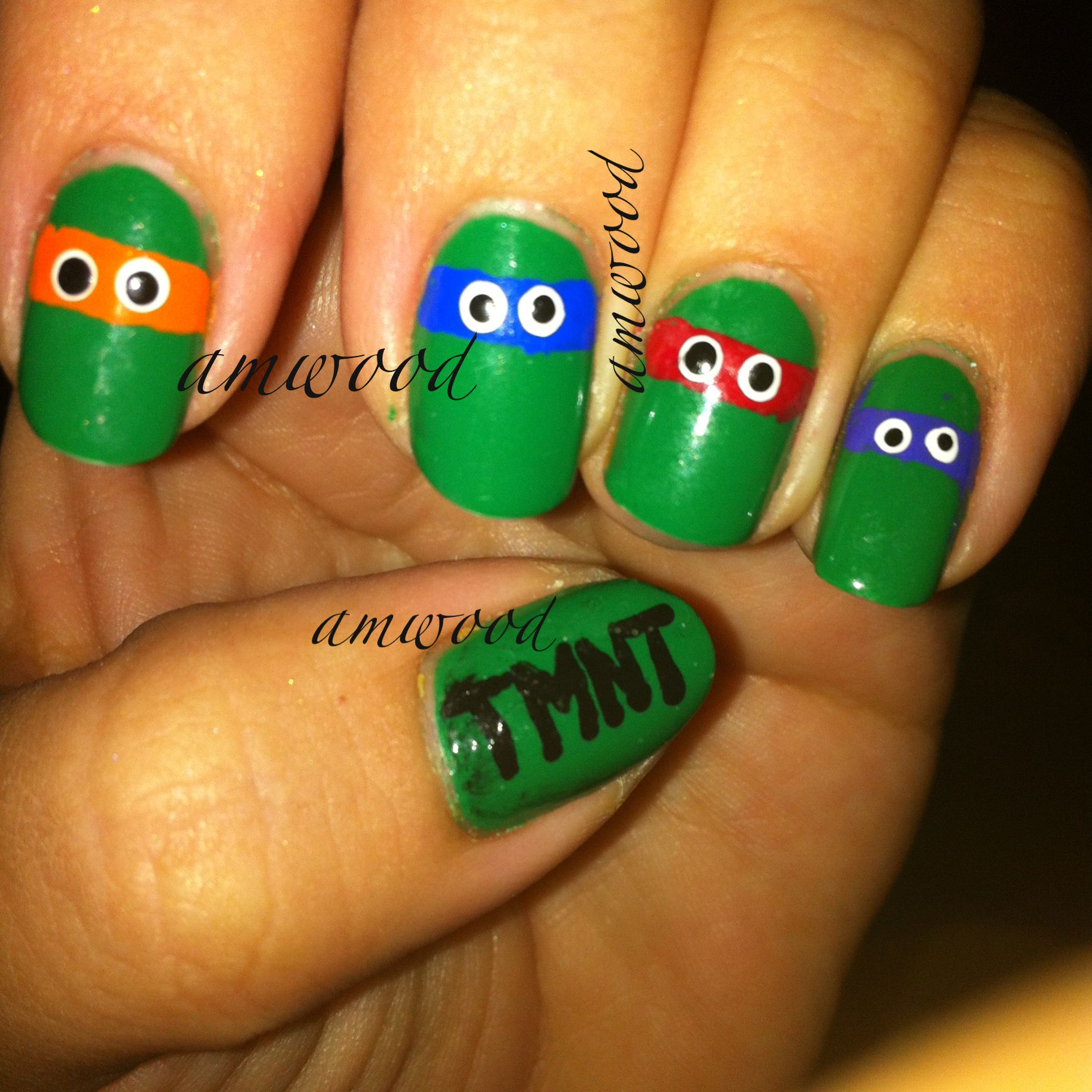 Teenage Mutant Ninja Turtles <3 | Nail designs | Pinterest | Teenage ...