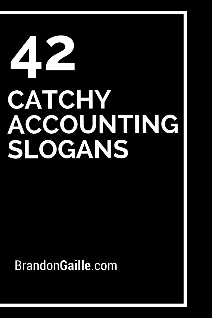 42 Catchy Accounting Slogans