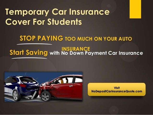 Tempoaray Auto Insurance For College Student With No Deposit