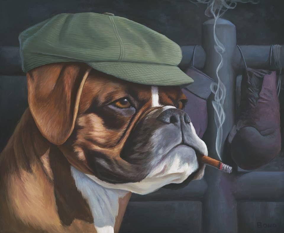 собака курит картинка умом
