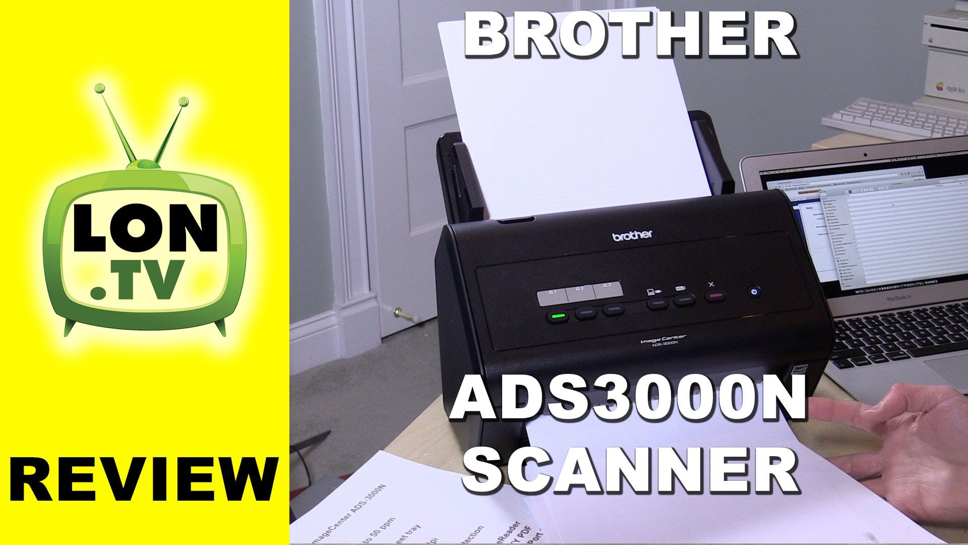 Brother ADS3000N High Speed Document Scanner Review and how to configure...
