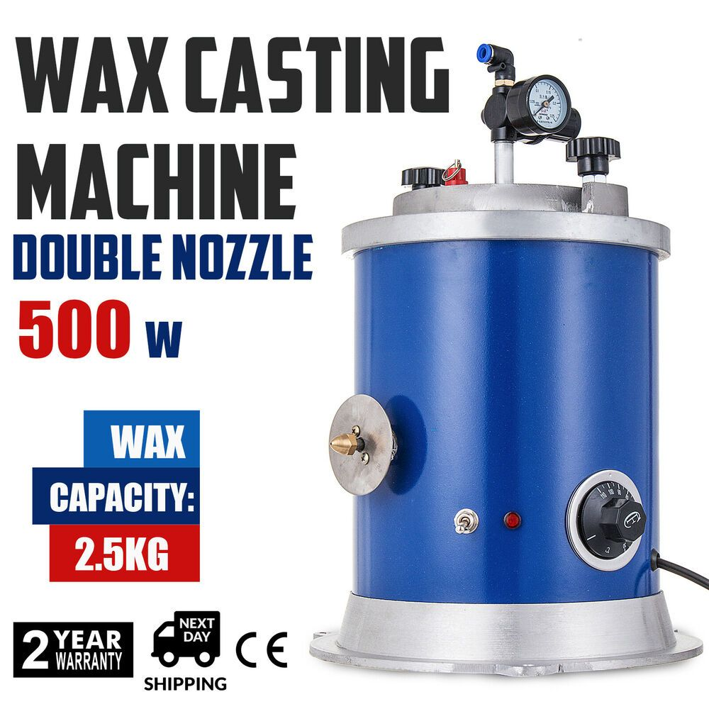 500w Round Wax Injector Wax Casting Machine Double Nozzle Quick Heating 30 110 A Casting Machine It Cast Wax