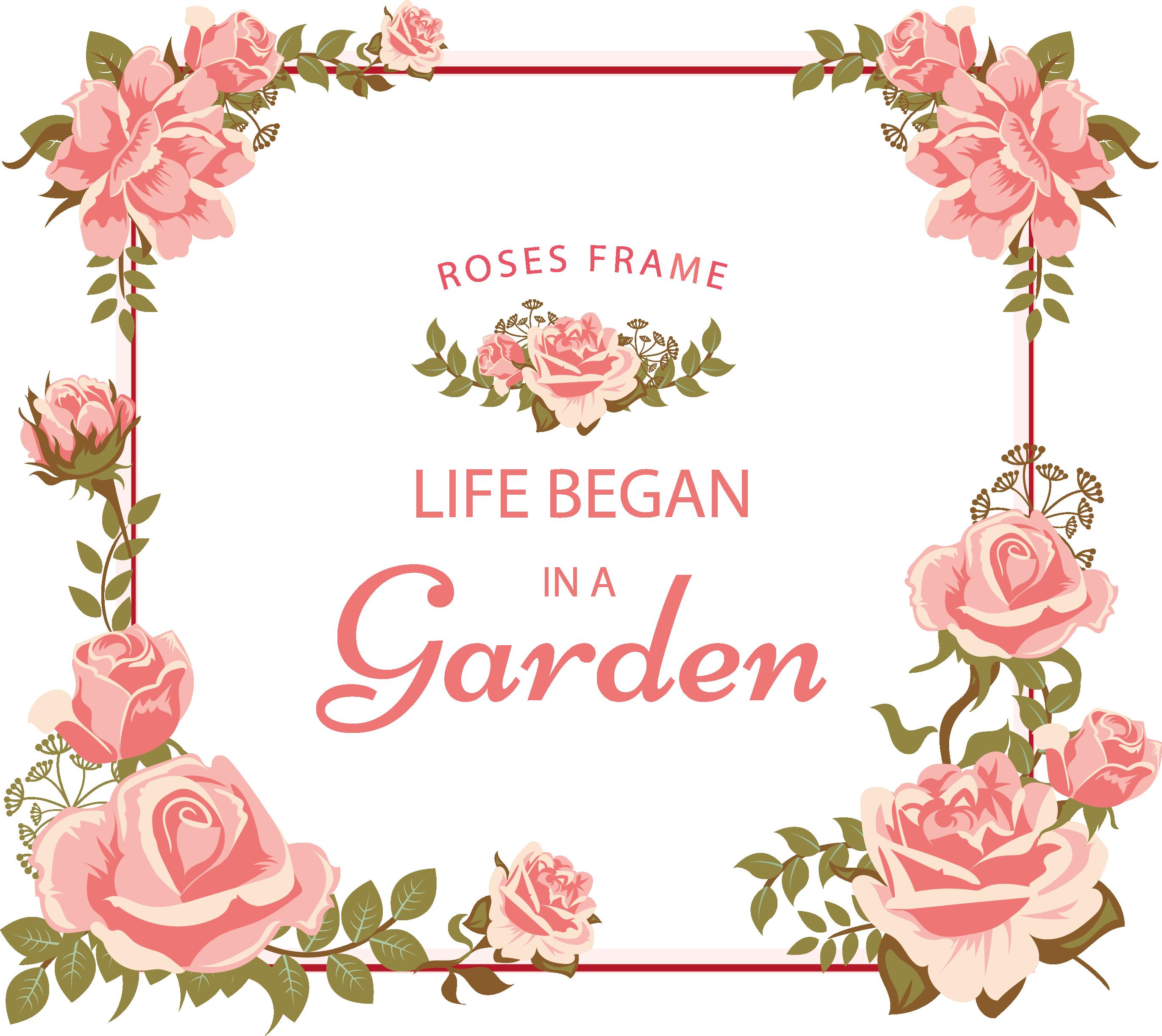 / Floral Frame Etiquetas para boda, Fondos