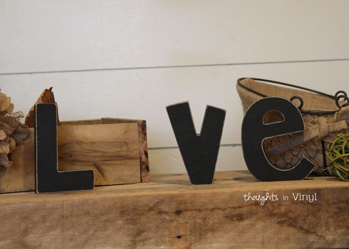 Interchangeable Love Letters {Letter Set}  Awesome idea to keep up the seasonal theme in my house.