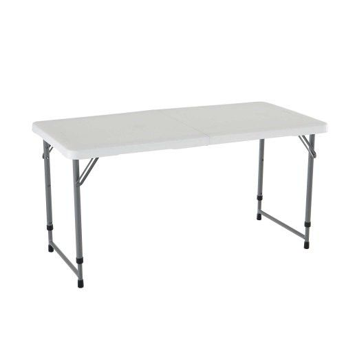 80160 Lifetime 4ft Adjustable Folding Table Competitive Edge Products Adjustable Height Table Adjustable Table Folding Table