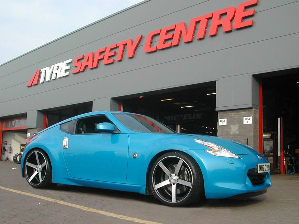 Bright Blue 370z On 20u201d CV3u0027s From Ireland!! Thanks To Tyre Safety Centre.  SubmissionJapanese CarsJdmNissanSafetyCentreIrelandSecurity ...