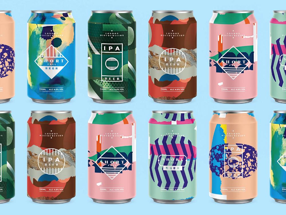 Beer Cans Beer Bottle Design Drinks Packaging Design Craft Beer Packaging