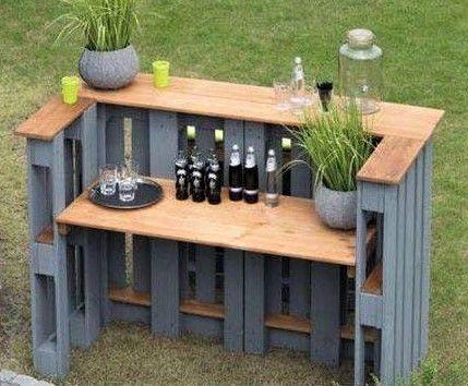 Photo of Modèles bars de jardin, réalisés en bois de palettes