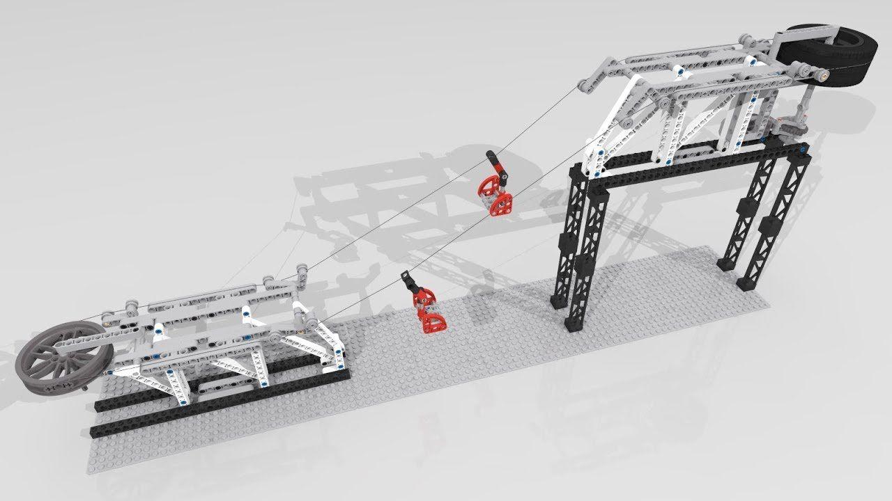 Simple Motorized Lego Ski Lift Instructions Ski Lift Skiing Lift Design