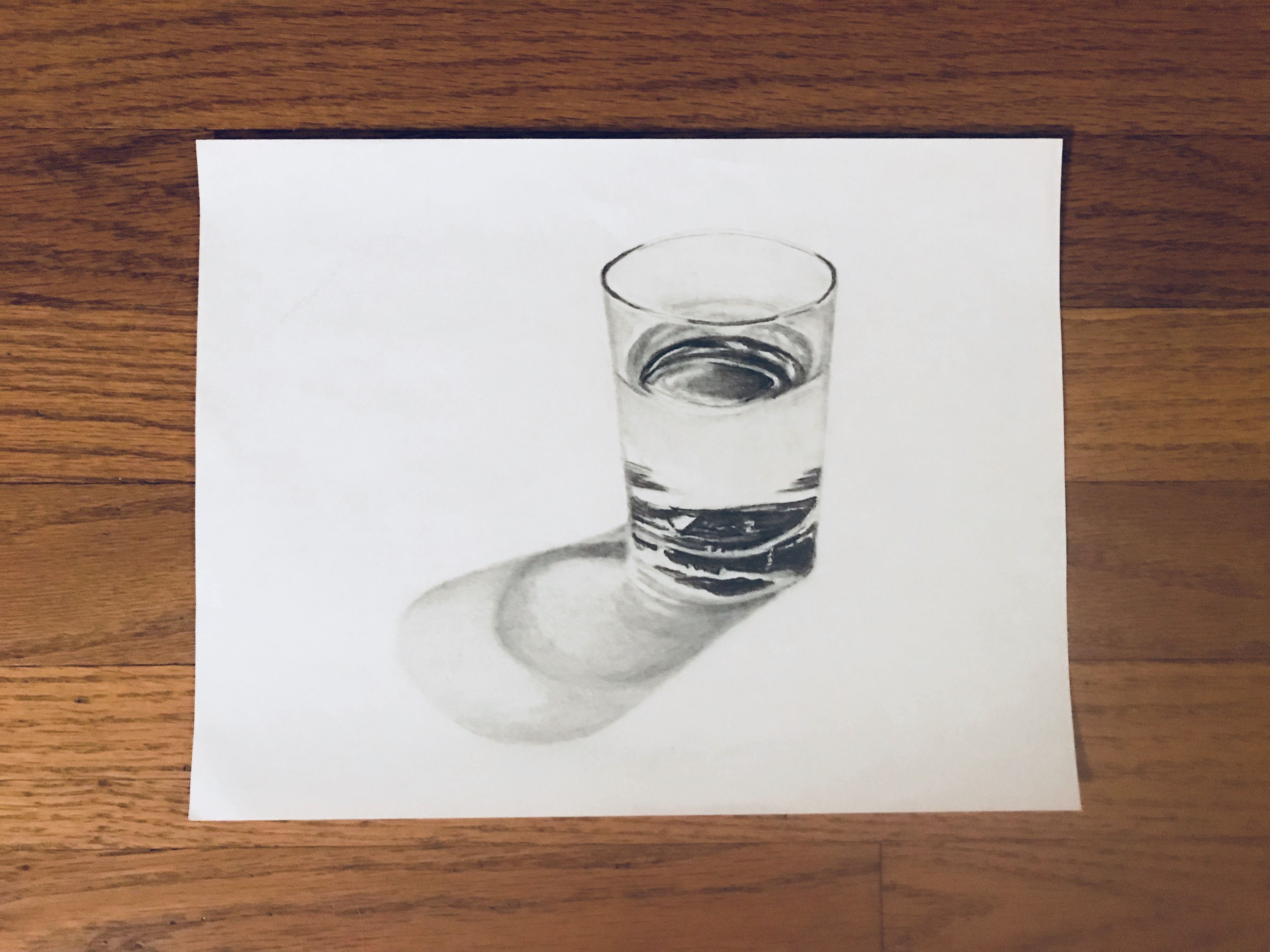 Glass of water. 8x11 Charcoal and graphite. http://ift.tt/2HnOg4w ...