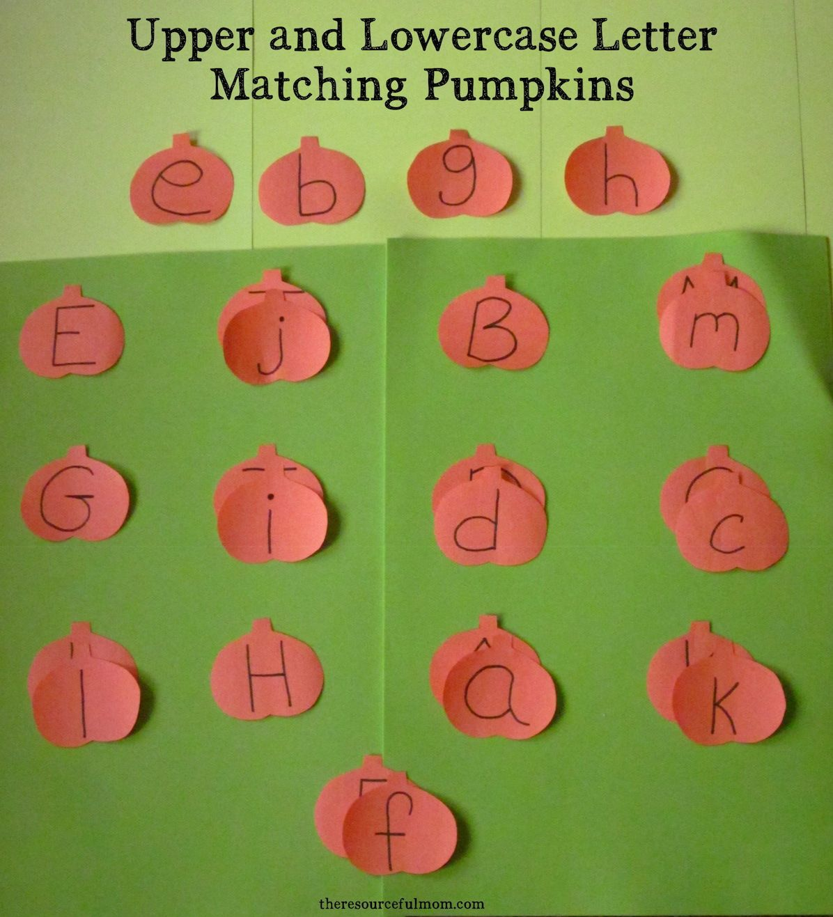 Upper And Lowercase Letter Matching Pumpkins With Images