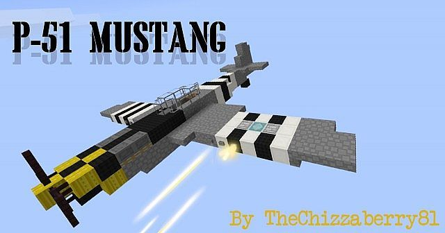 P-51 Mustang - WWII Fighter Plane Minecraft Project | Elijah