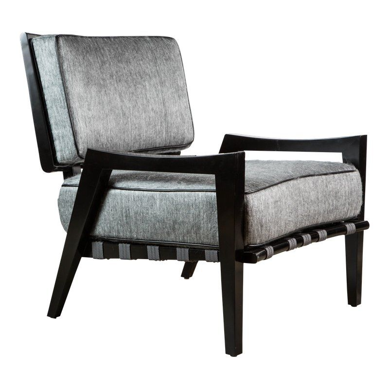 Paul Marra Low Lounge Chair In Black Lacquer Products Chair