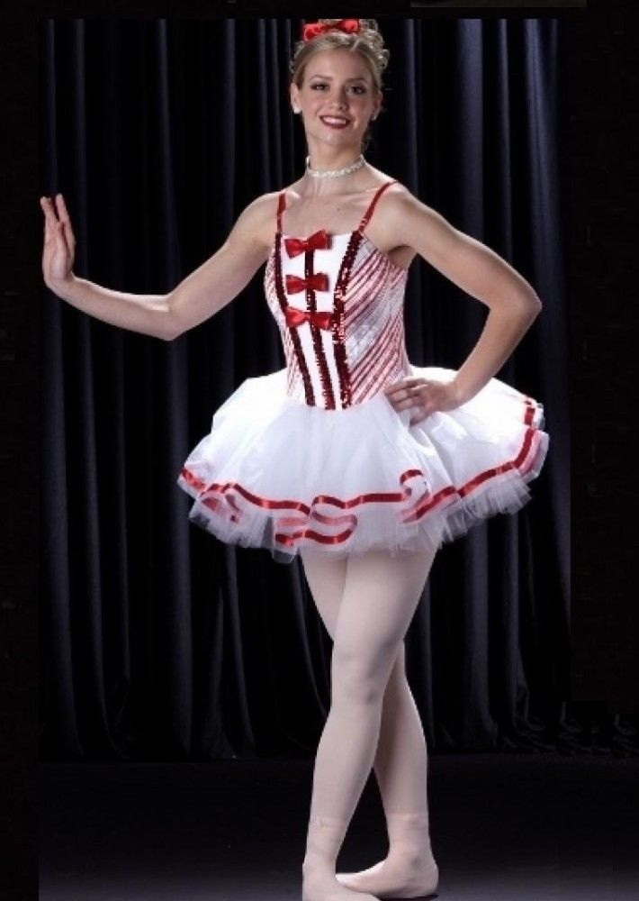92e5f9720a97 Land Of Sweets Dance Costume Christmas Ballet Tutu Candy Cane Adult ...