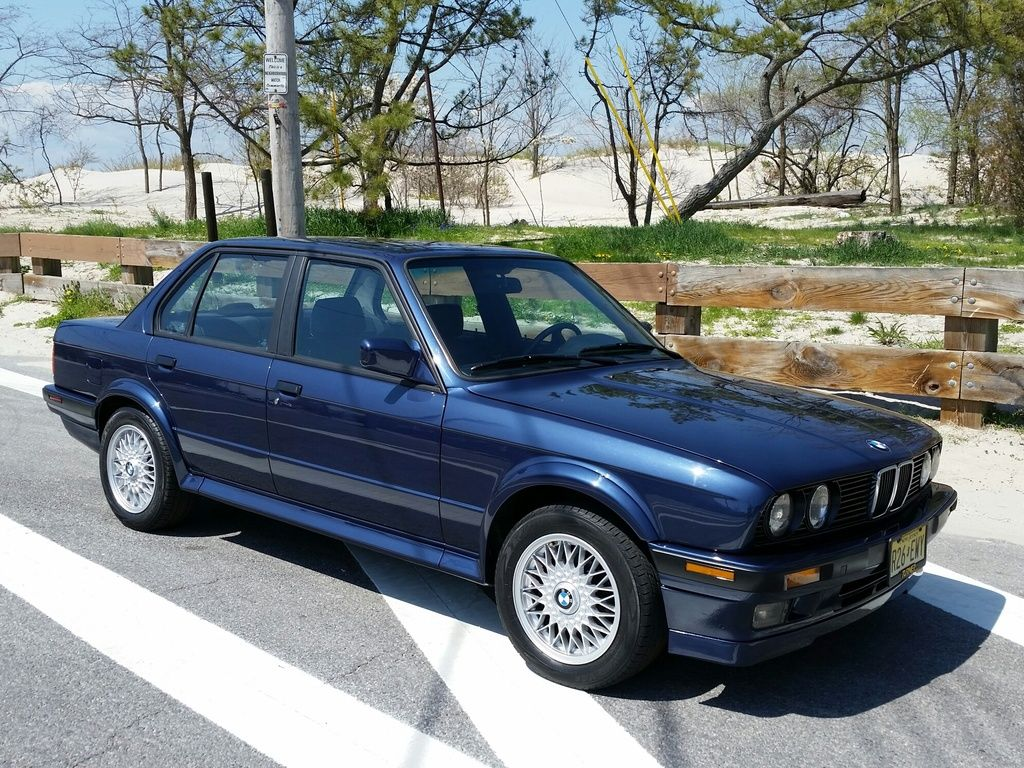 1991 Bmw E30 325ix Awd Rare Blue Exterior With M3 Style Shaved Doors Custom Interior More Bmw E30 E30 Bmw
