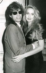 Mick Jagger , Jerry Hall 1988