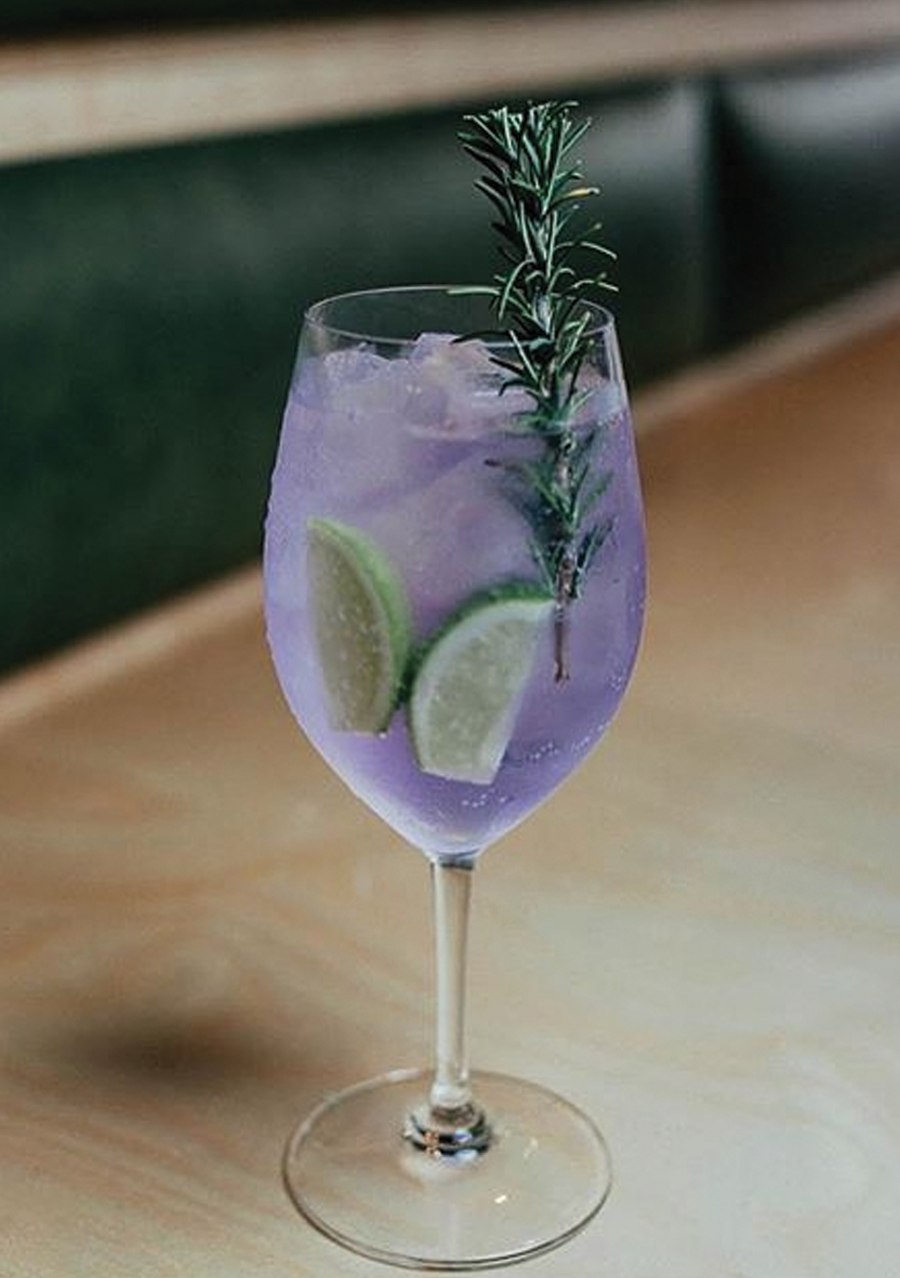 Ink & Tonic, garnished with lime and rosemary.   Easy Home ...