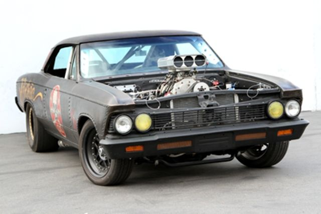 the affliction chevelle combines the rat rod nascar drag racing and muscle car attributes