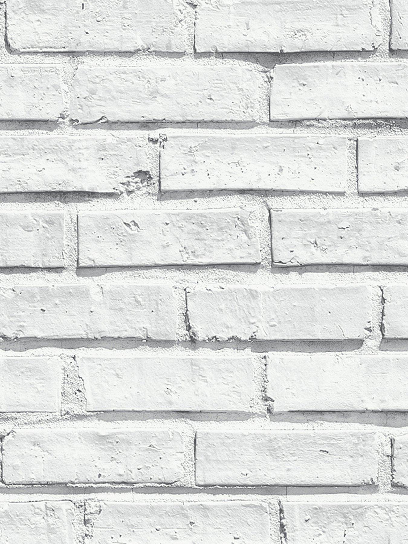 Arthouse White Brick Wallpaper Brick wallpaper, White