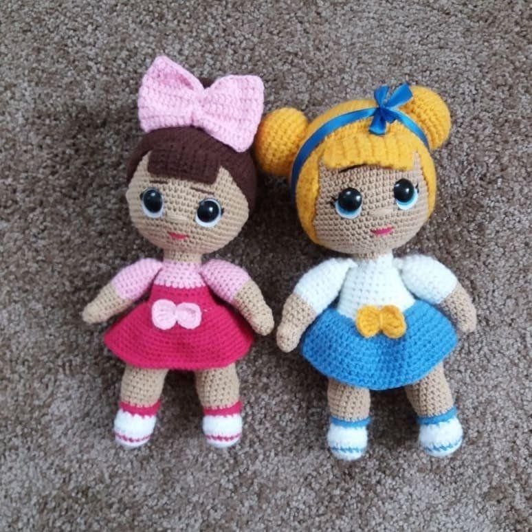 Amigurumi Lol Doll Free Crochet Pattern in 2020 | Lol puppen ... | 774x774