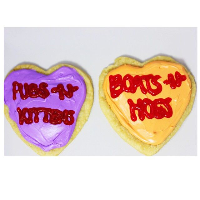 Pugs -N- Kittens & Boats -N- Hoes. My valentine making tonight