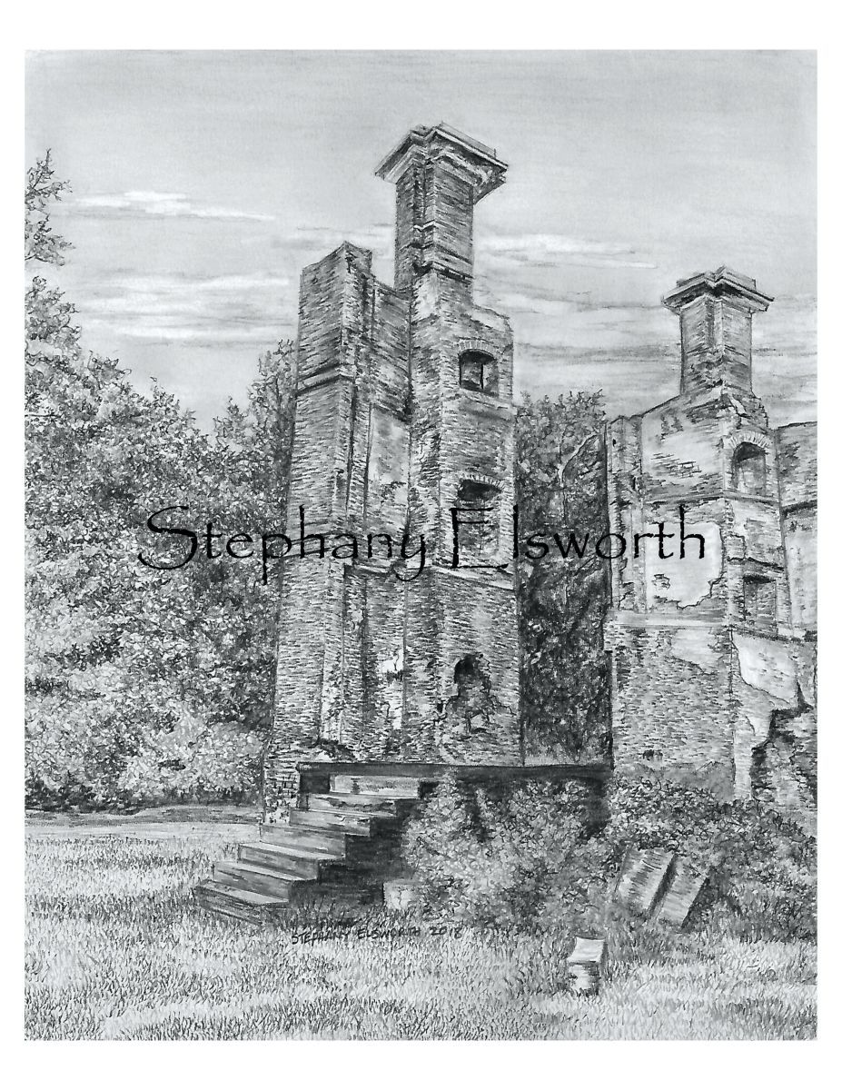 Ruins of rosewell pencil drawing pdf instant download
