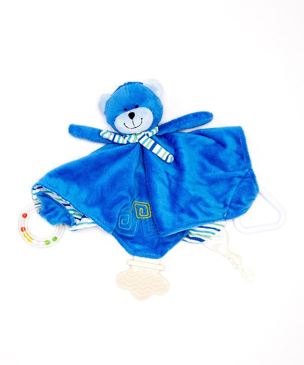 Look at this Blue Bobbie the Bear Chewbie Lovey on #zulily today!
