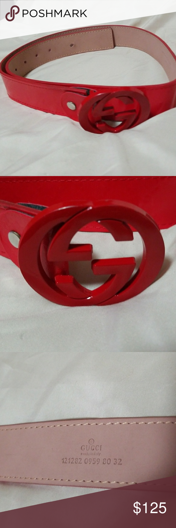 f2da77073 Authemtic Gucci belt Pre owned Gucci Belt like new No sing of wear Red  color Serial Number 12128209598032 Ship right away Thank you Gucci  Accessories Belts