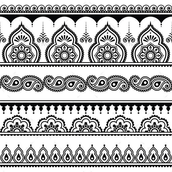 Pin By Neetu Gagan Gauba On Mehndi: Mehndi, Indian Henna Tattoo Seamless Pattern