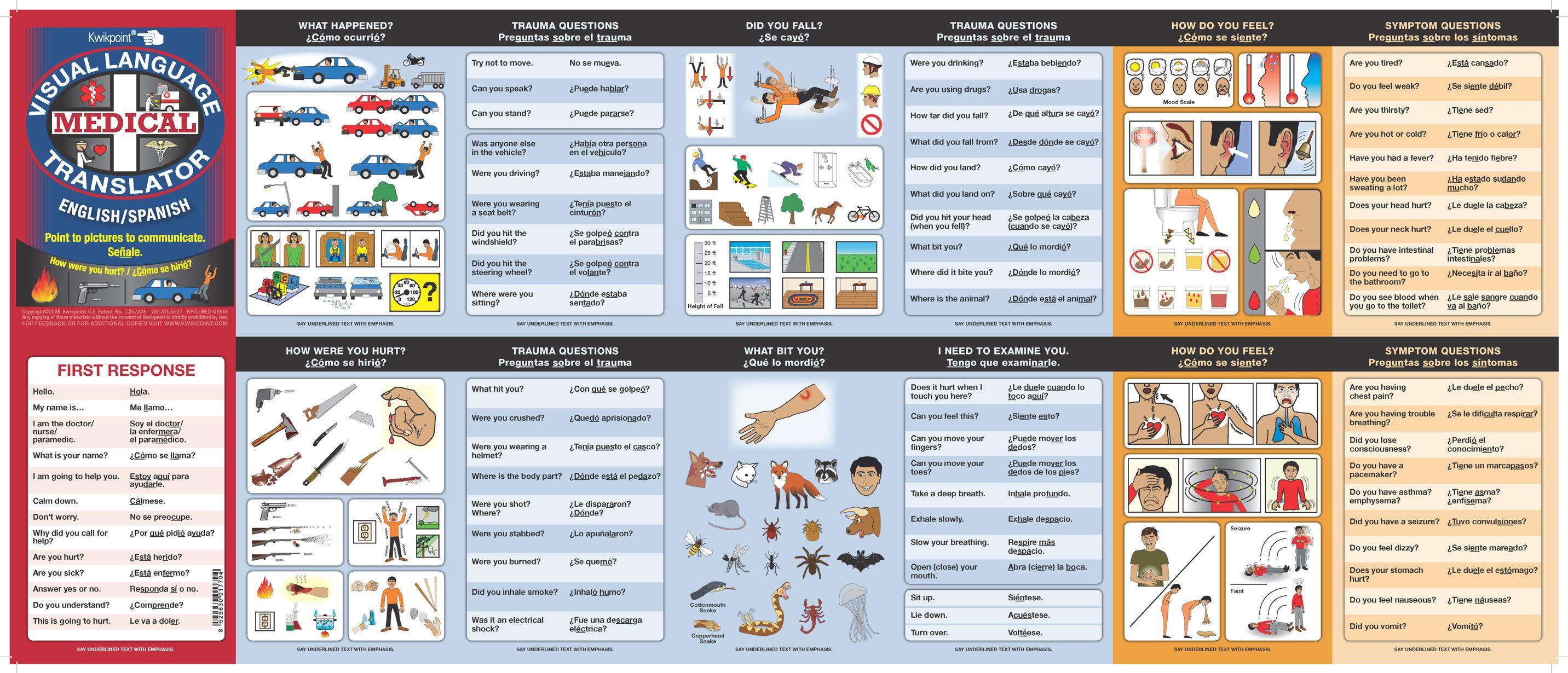 Medical Spanish Terminology | English/Spanish Medical Visual Language Translator  sc 1 st  Pinterest & Medical Spanish Terminology | English/Spanish Medical Visual ...