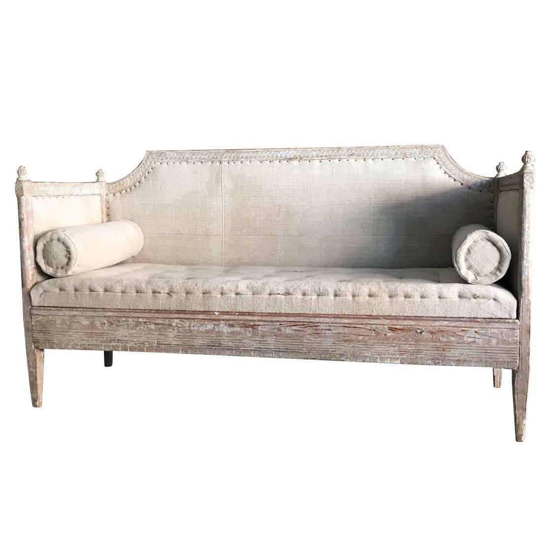 Swedish Early Gustavian Period Sofa In Original Paint 18th Century Antique At 1stdibs Painted Sofa Period Sofas Gustavian