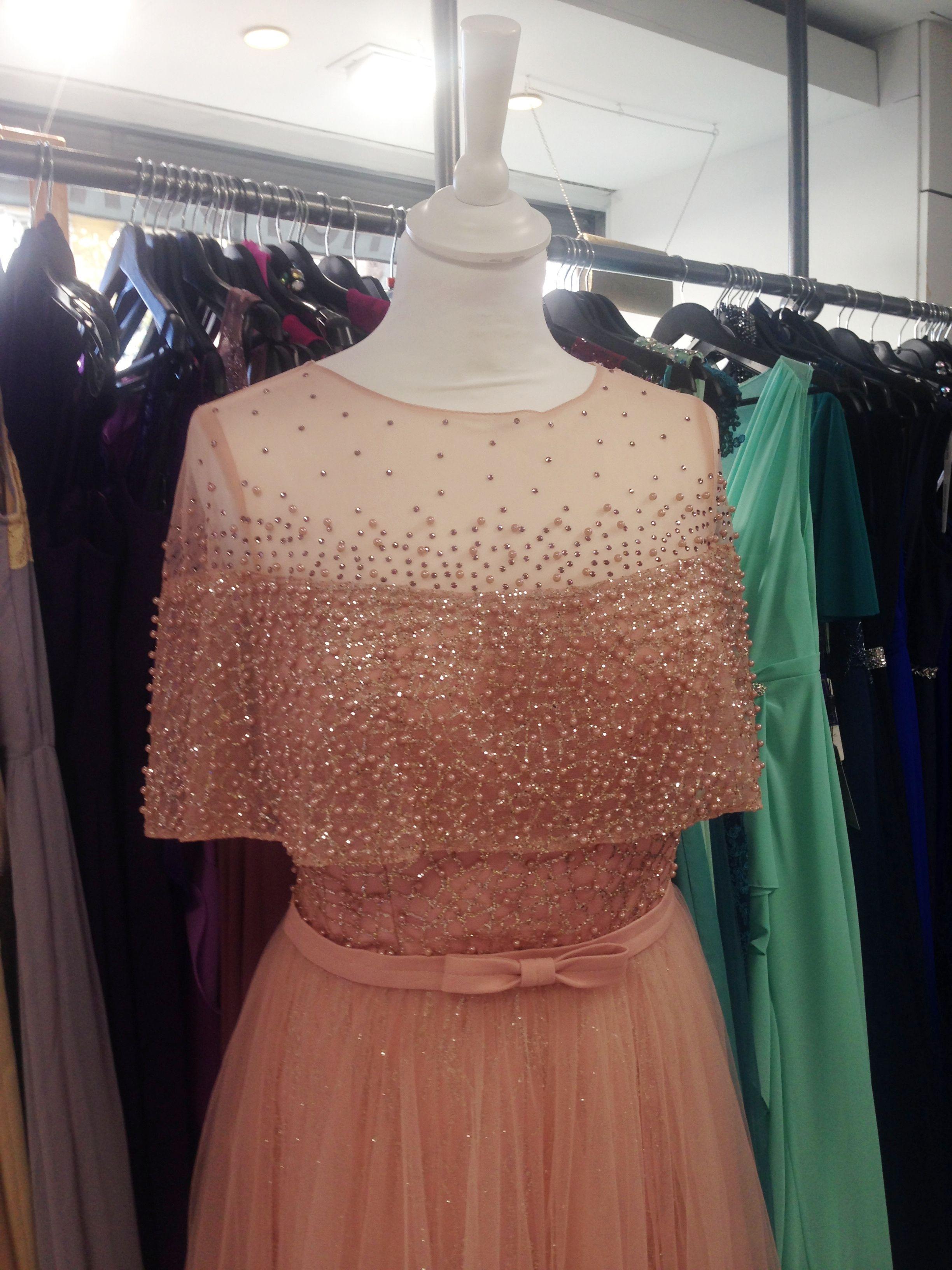 robe longue vieux rose rose poudr tulle perles et strass avec manches retro vintage robe
