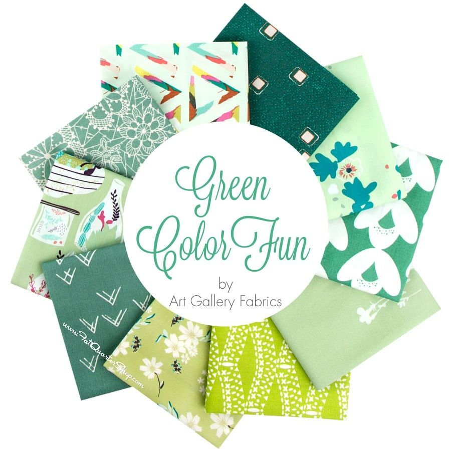 Green ColorFUN Fat Quarter Bundle Art Gallery Fabrics - Fat Quarter Bundles  | Fat Quarter Shop