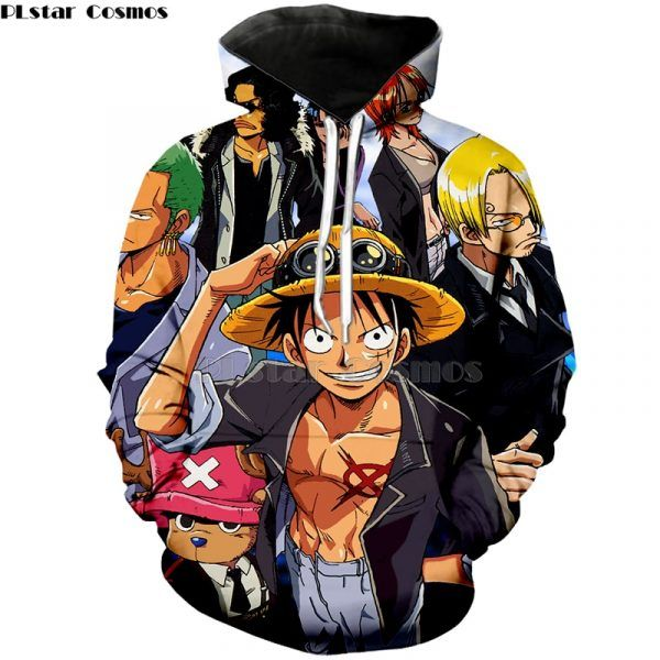 Anime One Piece Hoodie 3d Print Pullover Sweatshirt Monkey D Luffy Ace Sabo Kaido Battle Tracksuit Outfit Hoodies Outerwear Hoodies & Sweatshirts