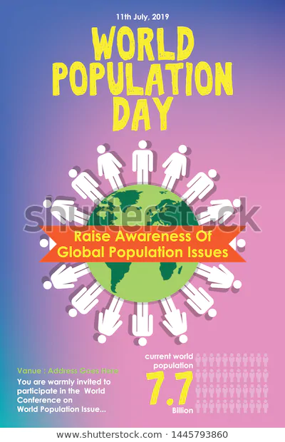 Find World Population Day Poster Vector Template stock