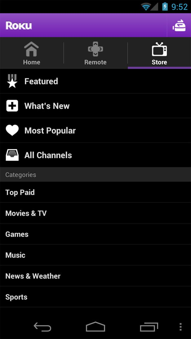 Roku Android App Released Android Apps Roku Android Apps Free