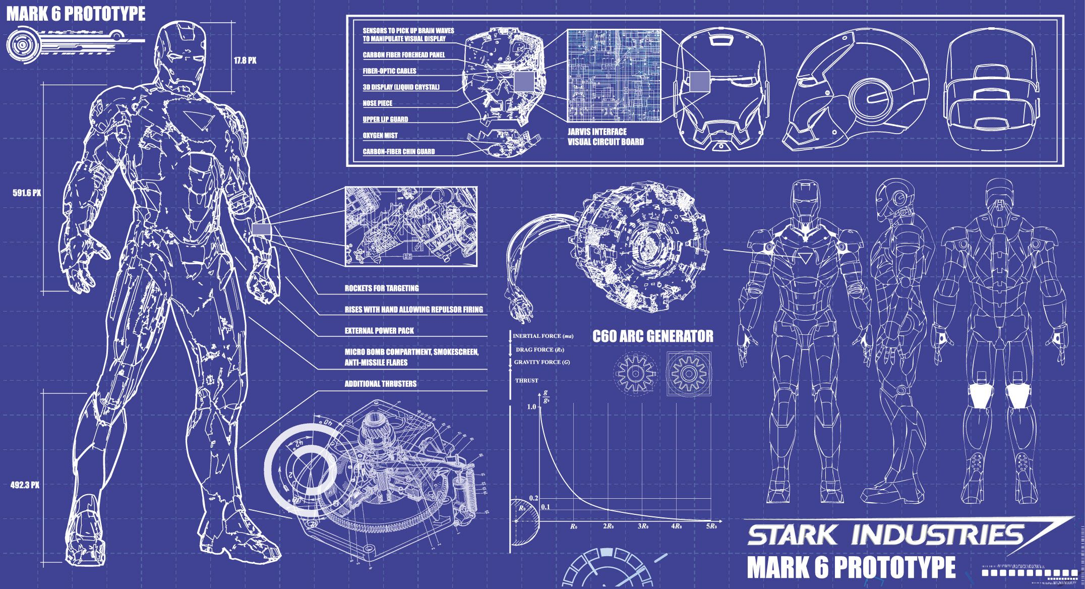 Download iron man blueprints stark industries 8 Hd Desktop