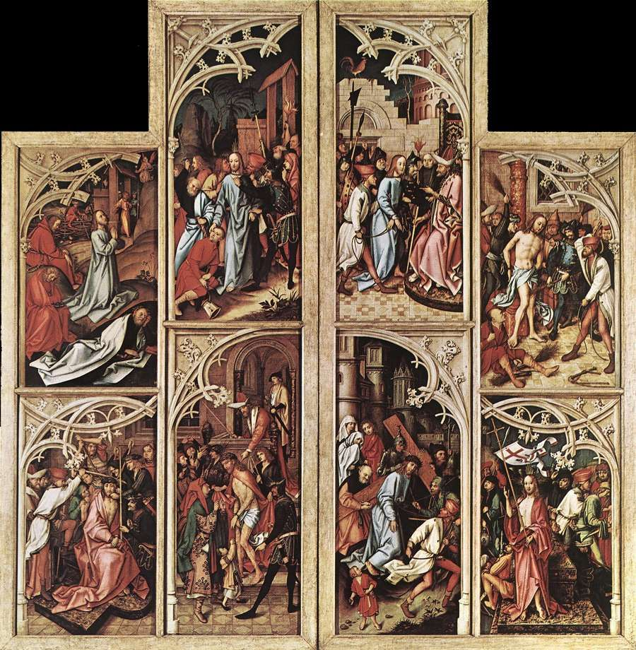 Holbein Hans The Elder Kaisheim Altarpiece Outer View Of The
