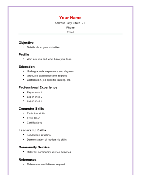 This A Size Printable Resume Template Puts The Emphasis On