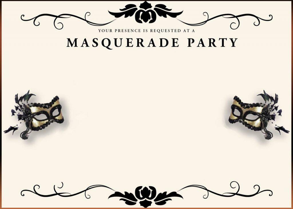 Printable Masquerade Invitation Template | Coolest Invitation ...