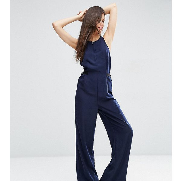 bfd68f759d ASOS TALL Jumpsuit with Buckle Strap Sides ( 44) ❤ liked on Polyvore  featuring jumpsuits