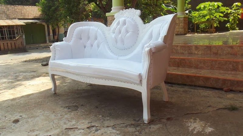 Medallion Sofa In White Patent With White Trim U0026 Silver Nailheads. Order  One Of This