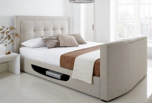 A Bed With A Tv Lift In The Footboard Genius I Would Prefer A