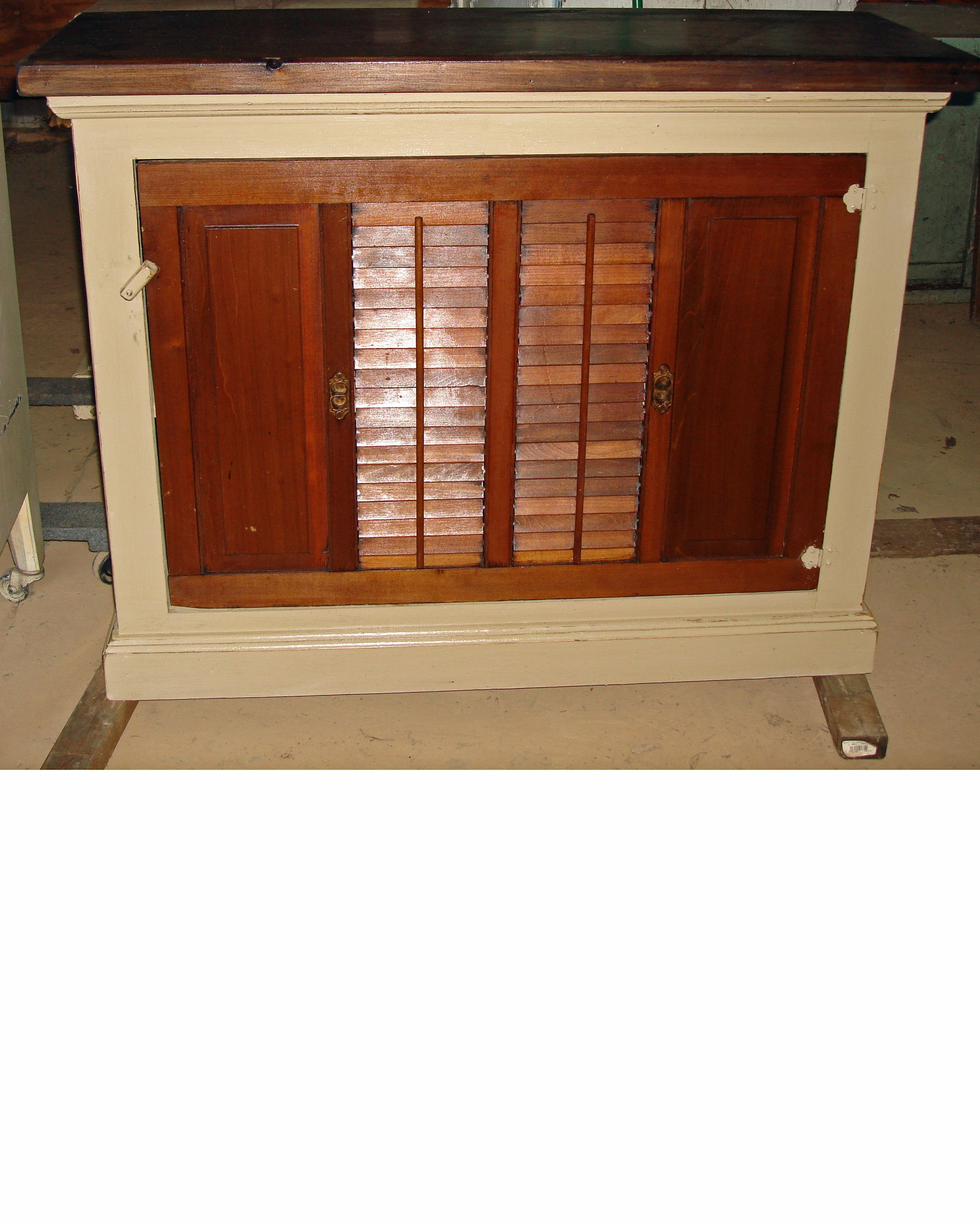 Amish Handmade Recycled Materials Cabinet With Shutter Door Shutter Doors Shutters Doors