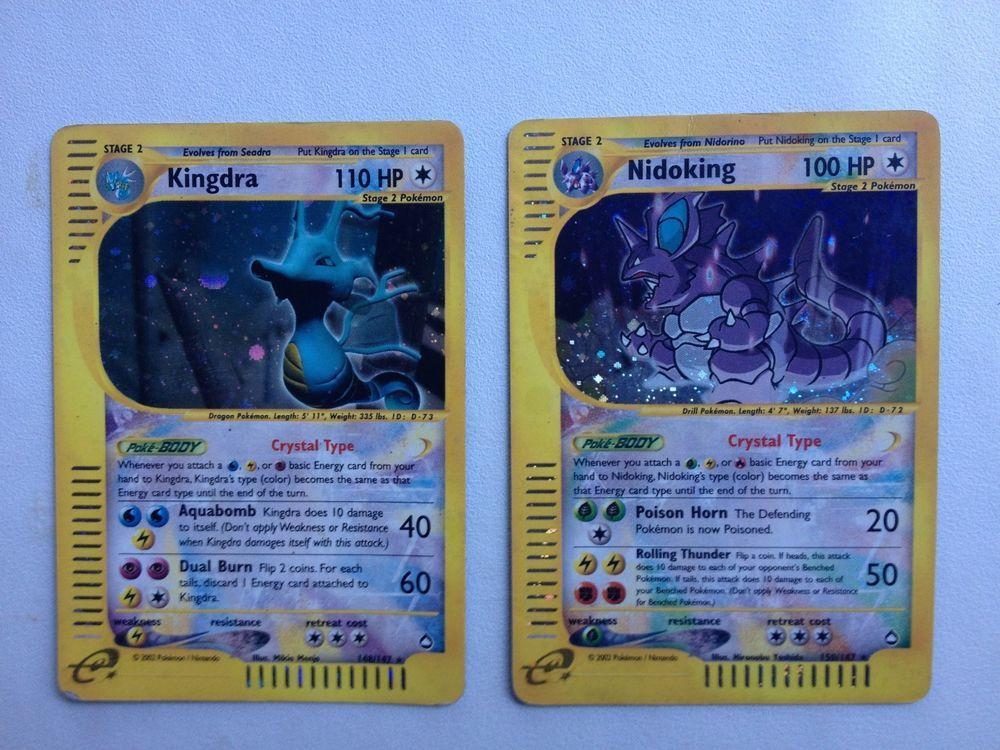 Crystal kingdra 148147 crystal nidoking 150147
