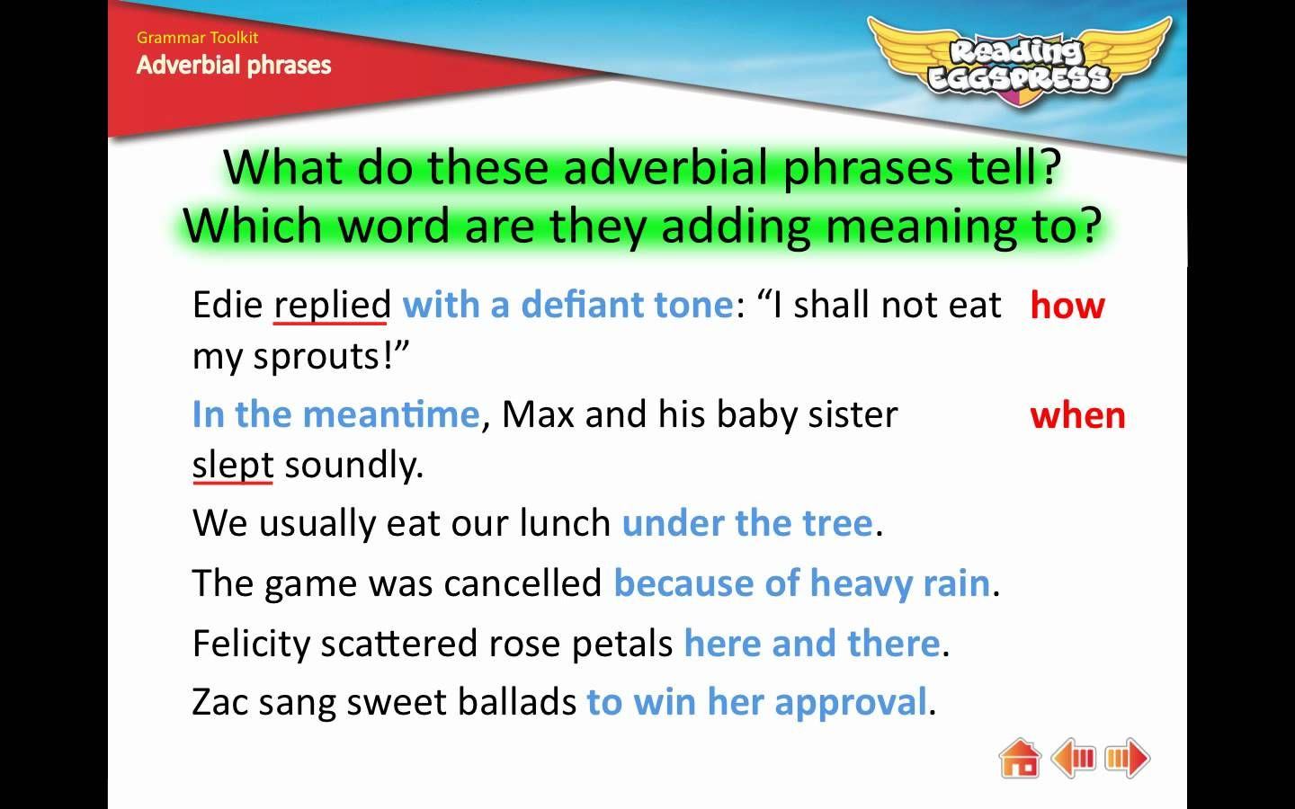 15 Adverbial Phrases