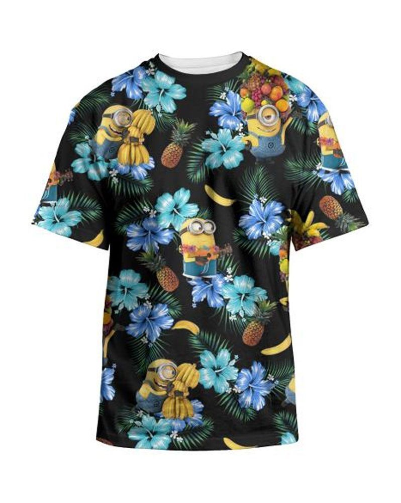 c2269063b Despicable Me Minions Tropical T-Shirt - Your cute little buddies on a  Hawaiian themed tee! #MinionMovie