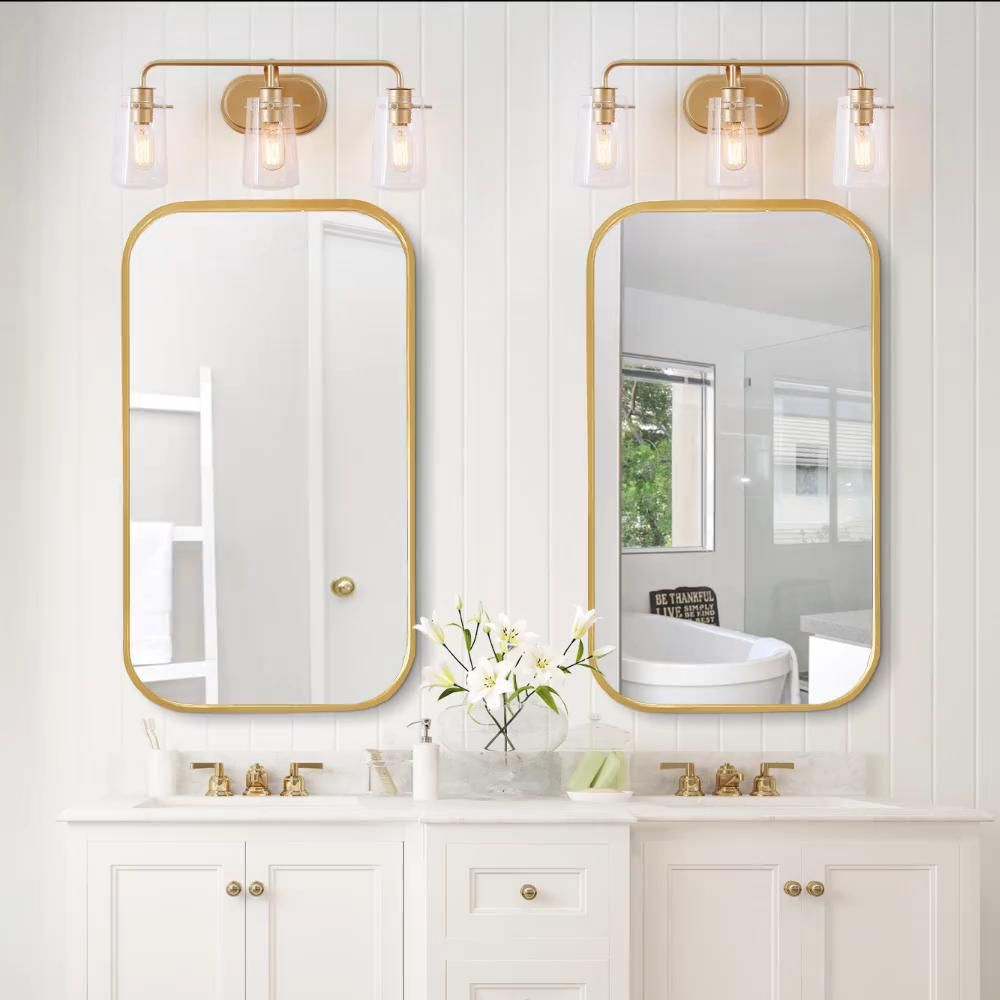 Photo of NEW WORLD DECOR  GoldModern/Contemporary Vanity Light Collection