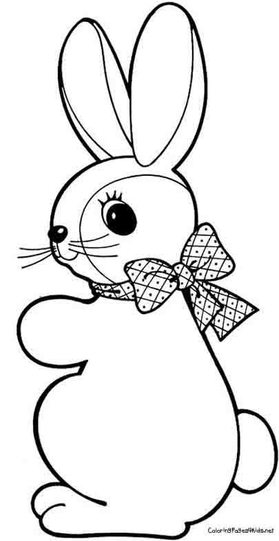 Easter Bunnies Coloring Pages For Kids