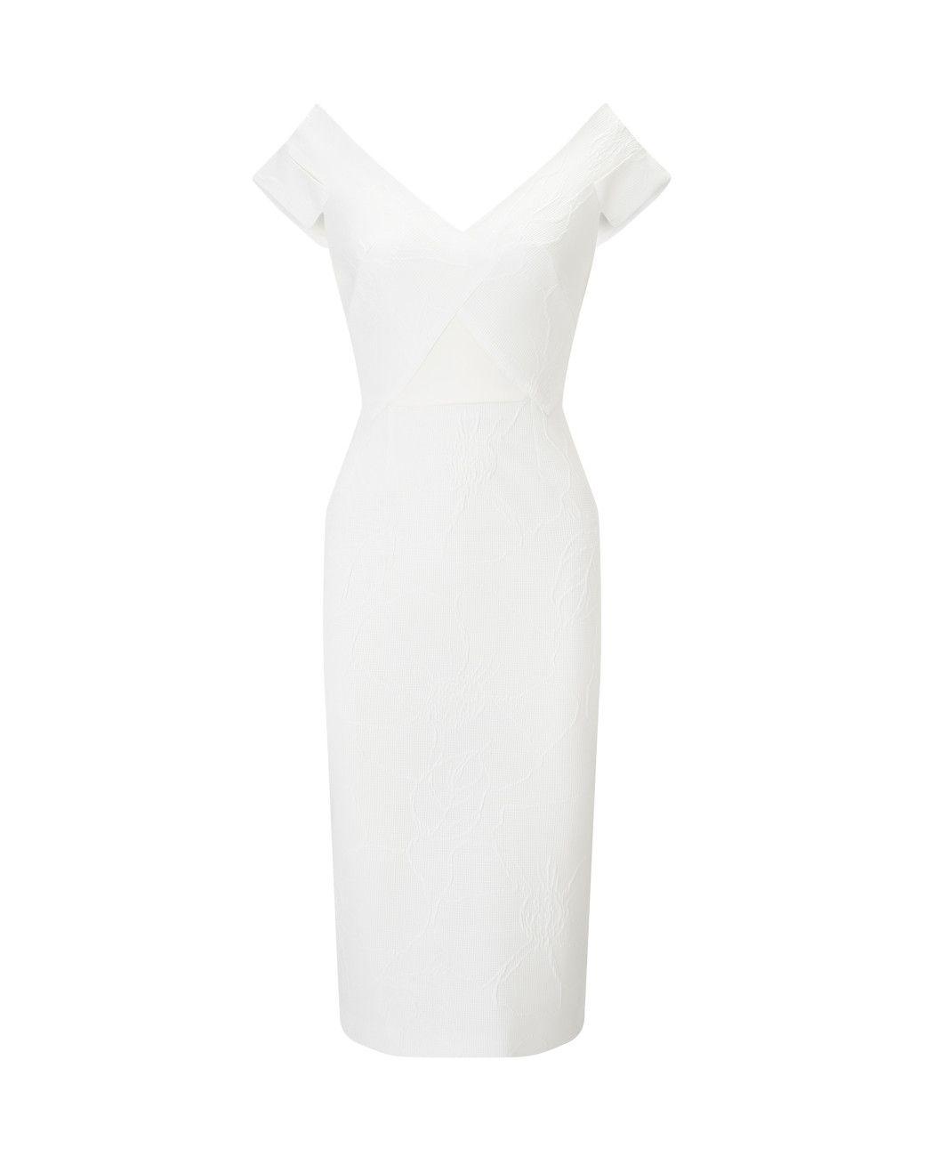 f7bb582dc9 Roland Mouret | White Grendon Dress | Lyst | Day - white | Dresses ...